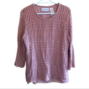 Alfred Dunner Pull Over Sweater EUC